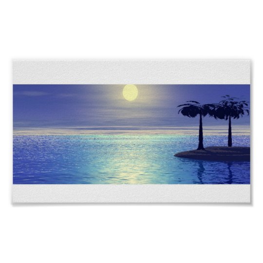 Tropical Island Poster