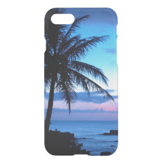 Tropical Island Pretty Pink Blue Sunset Photo iPhone 7 Case