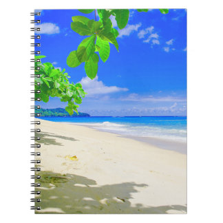 Tropical Island Retreat On White Sandy Beach Notebook