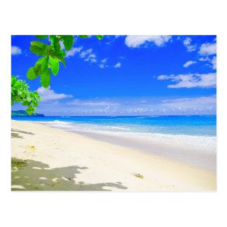 Tropical Island Retreat On White Sandy Beach Postcard