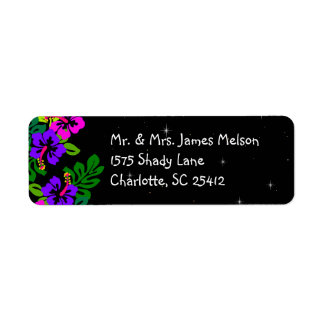 Tropical Island Return Address Label