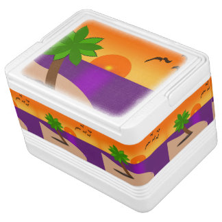 Tropical Island Scene 12 Can Igloo Cooler