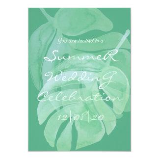 Tropical Island Summer Wedding Invitation