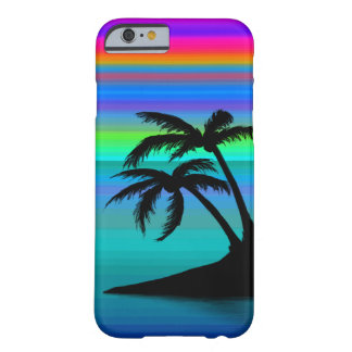 Tropical Island Sunset Barely There iPhone 6 Case