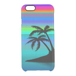 Tropical Island Sunset Clear iPhone 6/6S Case