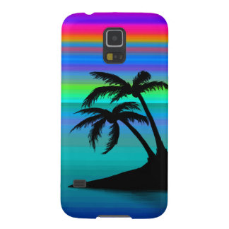 Tropical Island Sunset Galaxy S5 Case