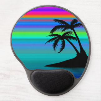 Tropical Island Sunset Gel Mouse Pad