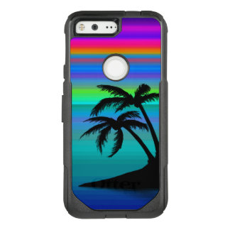 Tropical Island Sunset OtterBox Commuter Google Pixel Case