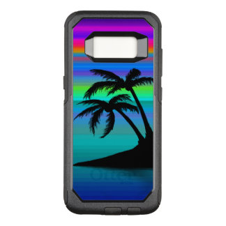 Tropical Island Sunset OtterBox Commuter Samsung Galaxy S8 Case