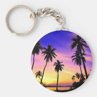 Tropical Island Sunset Over Sri Lanka Keychain