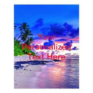 Tropical Island Sunset Paradise Flyer