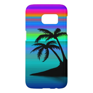Tropical Island Sunset Samsung Galaxy S7 Case
