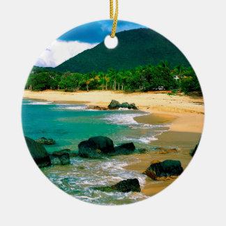 Tropical Island The Shores St Martin Ceramic Ornament