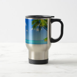 Tropical island travel mug