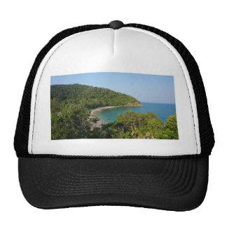 tropical island trucker hat