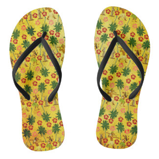 Tropical Island Unicorn Flip Flops