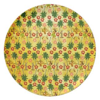 Tropical Island Unicorn Plates