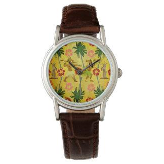 Tropical Island Unicorn Wrist Watches