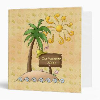 Tropical Island Vacation 3 Ring Binders