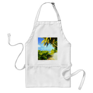Tropical Island Walking Path Under Palm Trees Standard Apron