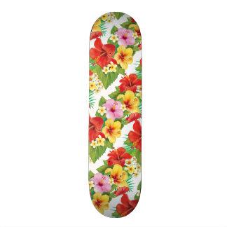 Tropical Islands Hibiscus Skate Board Deck