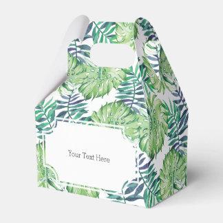 Tropical Islands Plants Monstera Deliciosa Favor Box