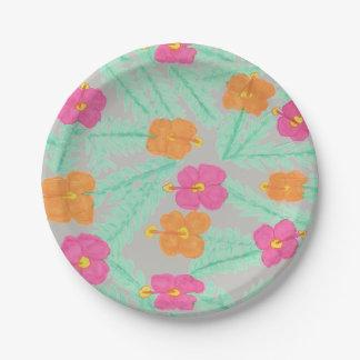 Tropical Jungle Floral Paper Plates