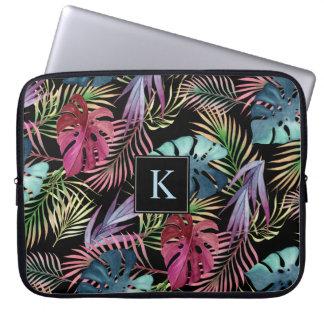 Tropical Jungle Foliage Botanical Pattern Laptop Sleeve