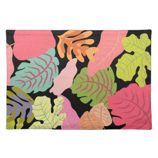 Tropical Jungle Leaves Pip Pip Hooray Vector Art Placemats