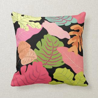 Tropical Jungle Leaves Vector Art Cushion Throw Pillows