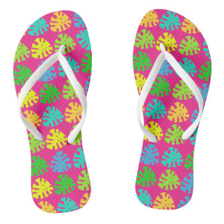 Tropical Jungle Print - Flip Flops