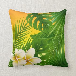 Tropical Jungle Sunshine Design Throw Pillow