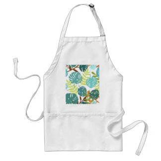 Tropical jungle with palm leaves standard apron