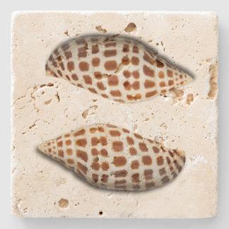 Tropical Junonia Seashells Coasters