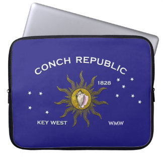 Tropical Key West Flag Personalize Laptop Sleeve
