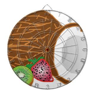 Tropical Kiwi Coconuts Dartboard