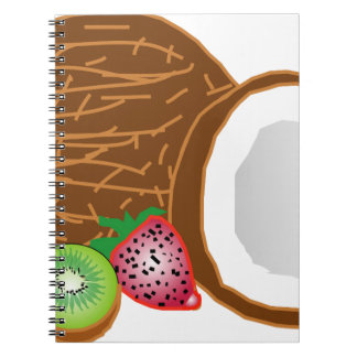 Tropical Kiwi Coconuts Notebooks