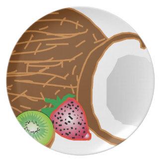Tropical Kiwi Coconuts Plate