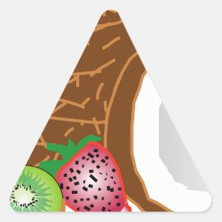 Tropical Kiwi Coconuts Triangle Sticker