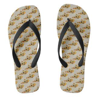 Tropical Koi Fish Designer Flip Flops
