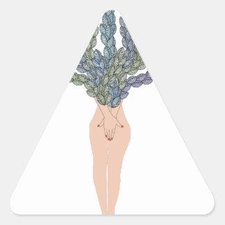 Tropical lady A Triangle Sticker