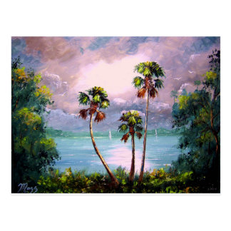 Tropical Lake View Postcard