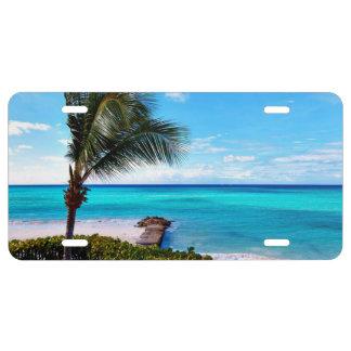 Tropical Landscape License Plate