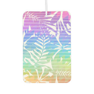 Tropical leaf chevron air freshener