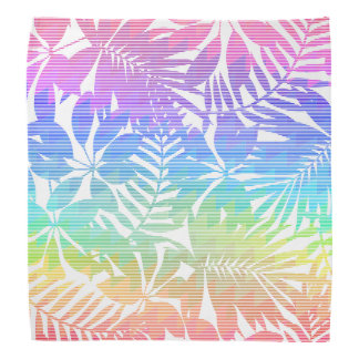 Tropical leaf chevron bandana