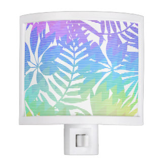 Tropical leaf chevron nite light