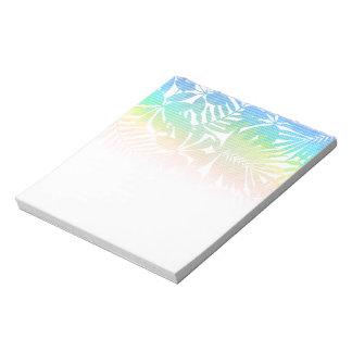 Tropical leaf chevron notepad