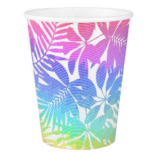 Tropical leaf chevron paper cup