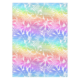 Tropical leaf chevron tablecloth