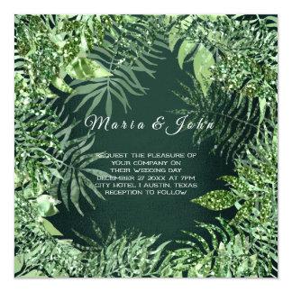 Tropical Leaf Glitter Garden Mint Green Cali Lux Card